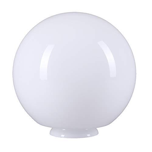 Cristal opalino de 200 mm de diámetro para lámpara, redondo, color blanco brillante