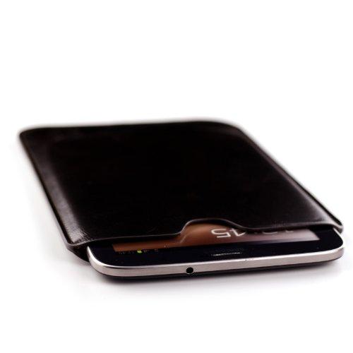 Leder Samsung Galaxy Tab PRO 8.4 Sleeve, Dell Venue 8 PRO & LG G Pad 8.3 Sleeve - Tablet-Hülle Sleeve von Dockem; Schlank, Einfache & Professional Vorstand mit weicher Mikrofaser gefüttert Filz Dunkelbraun Basic-Synthetic-Leder Schutzhülle Tablet Tasche Cover für Samsung Galaxy Tab PRO 8.4