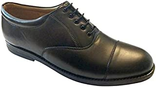 SSG Men's Leather Oxford Pattern Black Shoes