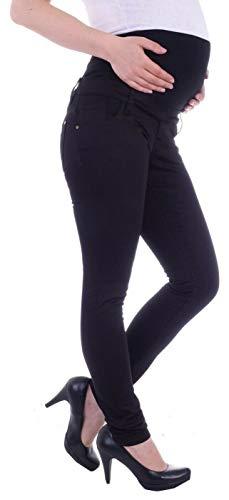 Damen Umstandsjeans Schwangerschaftsjeans Slim Schwangerschaft-s-Jeans Umstand-s-Hose Umstand-s-Hosen Röhre-n-Jeans Maternity Over-Size-Plus Big Gr große Größe-n schwarz-e übergröße-n M 38