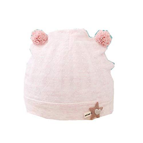 Sombrero para Bebé Gorros de recién Nacidos de algodón Fino para niños y niñas Sombrero de Sol