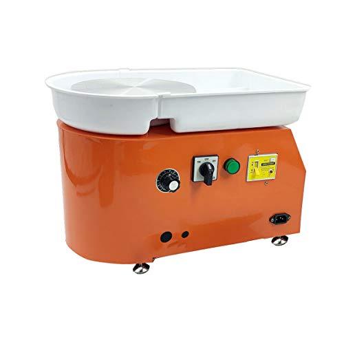 Lfhelper Elektrische Töpferscheibenformmaschine, 25CM Töpferwerkzeuge Keramikschneidemaschine 350W mit Abnehmbarer Schale für Keramik Rad Ton den Schulunterricht