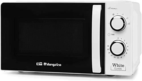 MI 2115 Microondas con 20 litros de capacidad, 6 niveles de funcionamiento, temporizador hasta 30 minutos, 700 W, Blanco
