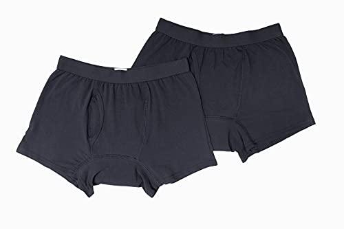 失禁パンツ 男性用 尿漏れ パンツ 2枚組 ボクサー パンツ 尿失禁 紳士 下着 薄型 吸水 洗濯可能 メンズ ケアパンツ ボクサータイプ シンプル ベーシック ネイビー (LL)