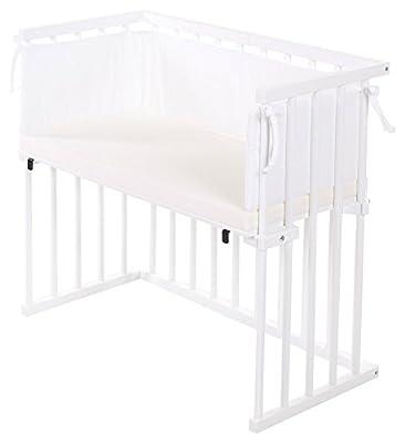 dreamgood–Auxiliar cama color Blanco Incluye Colchón Prime y cuna marrón/blanco