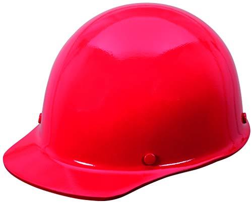 MSA 454620 Skullgard Cap Style - Gorro de seguridad con suspensión Staz-on Pinlock | Tapa sin ranuras, hecha de resina fenólica, cargas de calor radiantes hasta 350F - Tamaño estándar en rojo