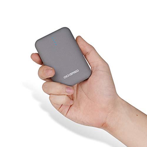 ockered Batería Externa Power Bank 10000Mah, Cargador Portátil Móvil con 2 Puertos Salidas USB Alta Velocidad y LED, Compatible con iPhone, iPad, Samsung Galaxy, Huawei Y Otros Smartphones
