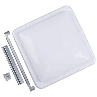 """Camp'N 14"""" Universal RV, Trailer, Camper, Motorhome Roof Vent Cover - Vent Lid Replacement (White 1 Pack)"""