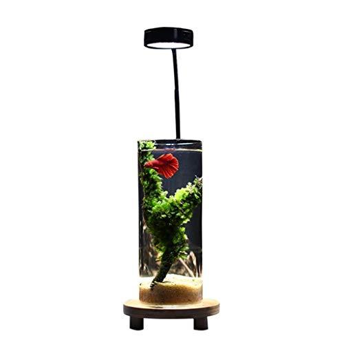 Love lamp Serbatoio di Pesce Ecologico a circolazione Automatica Piccolo Acquario Pigro Creativo Pesce da Combattimento Cilindro Speciale Serbatoio cilindrico for Pesci