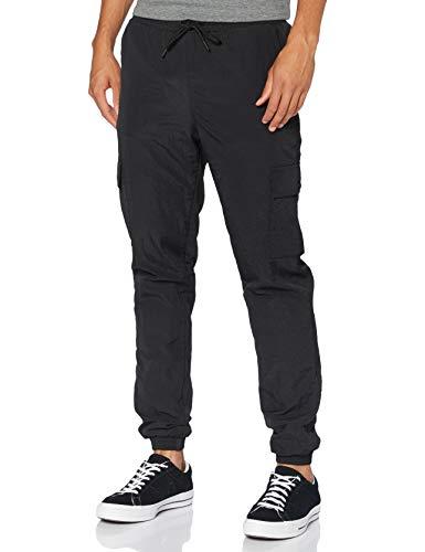 Urban Classics Herren Cargo Nylon Track Pants Freizeithose, Black, L