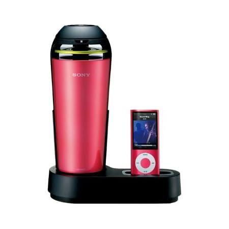 SONY iPod/iPhone用ドックスピーカー 車載用シガー電源対応 ピンク SRS-V500IP/P