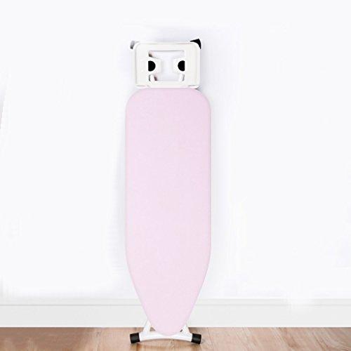 LIZITYB Tabla de Planchar, hogar, Tabla de Planchar Plegable Rosa Tubo de Acero Grueso, Malla de Acero Grueso, diseño de Bloqueo, Placa de Hierro eléctrico (Size : 133cm)