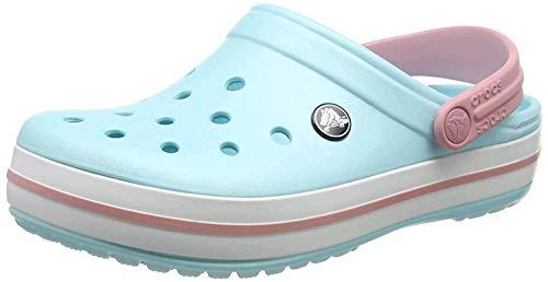 crocs Crocband U, Zuecos Unisex Adulto, Azul (Ice Blue-White), 37-38 EU