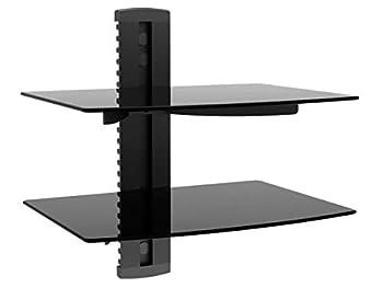 Monoprice 110479 2 Shelf Wall Mount Bracket for TV Components - Black