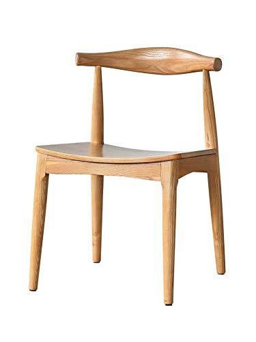 Gasgff Nordic Esszimmerstuhl * 2, Massivholz Horn Stuhl Moderner Minimalistischer Esszimmerstuhl Esszimmerstuhl Stuhl Zu Hause Stuhl Aus Holz Enthält Zwei