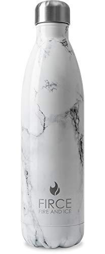 Premium Trinklasche BPA-freie Thermosflasche elegantes Marmor Design 750ml BPA auslaufsichere und spülmaschinenfeste Wasserflasche Optimal zum Reisen