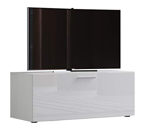 VCM TV Lowboard Fernsehtisch Rack Phono Möbel Tisch Holz Sideboard Medienrack Fernsehbank Weiß 40 x 95 x 36 cm