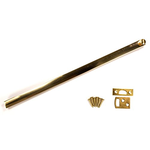 Stanley National Pro Series N287-029 12 Inch Solid Brass Surface Bolt Polished Brass