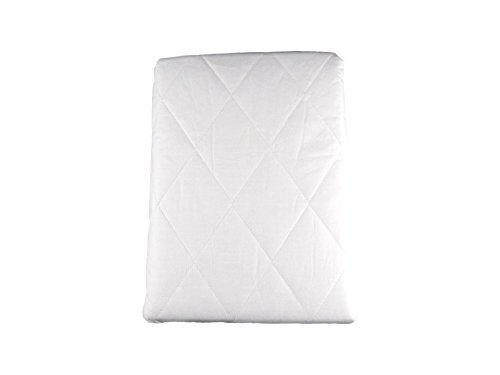 The House Of Emily Emperor Fully Elasticated Quilted Mattress Protector 15-inch Extra Deep, 200 Tc Polycotton Percale, White, 213 x 213 + 38 cm