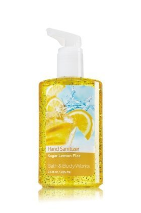 Bath & Body Works Sugar Lemon Fizz Full Size Hand Sanitizer Anti-bacterial Gel 7.6 fl oz