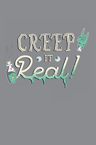 Notizbuch A5 (6X9zoll) Kariert 120 Seiten: Creep It Real - Halloween Metal Kostüm Horror Geschenkidee