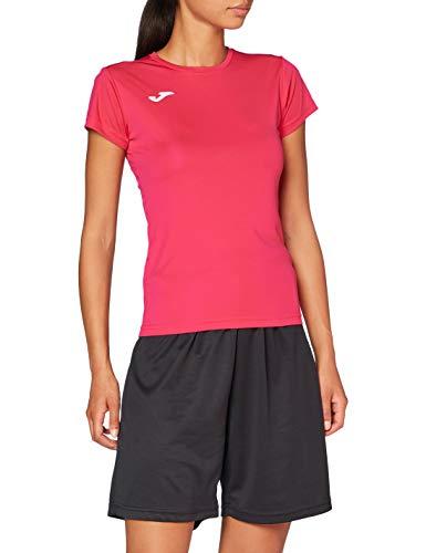 Joma Combi Woman M/C Camiseta Deportiva para Mujer de Manga Corta y Cuello Redondo, Rosa (Pink Fucsia), L