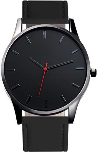Reloj Para Hombre De Pulsera Negro Para Caballero Elegante