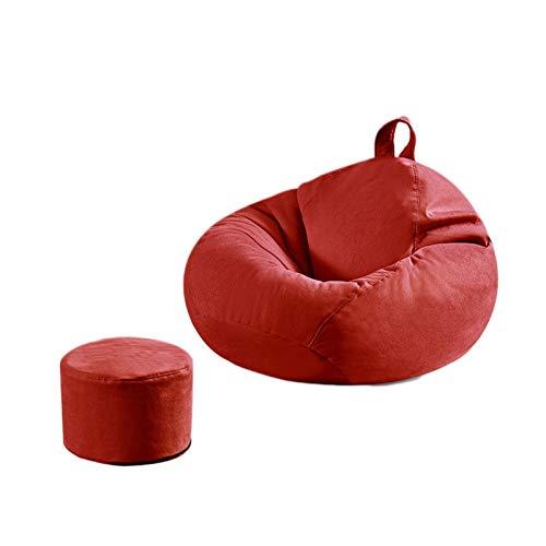 LAA Frijol Presidente Bolsa De Almacenamiento + Pedal Salón O Juego Silla Hogar O Jardín Puf Bolsa Frijoles Puff (Color : Big Red, Size : Yes)