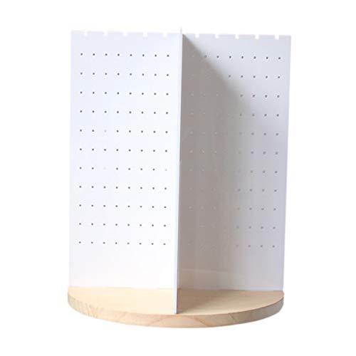 Baosity Pendiente Giratorio Estante de Exhibición Collar Soporte Torre Organizador Decoración para El Hogar - Acrílico