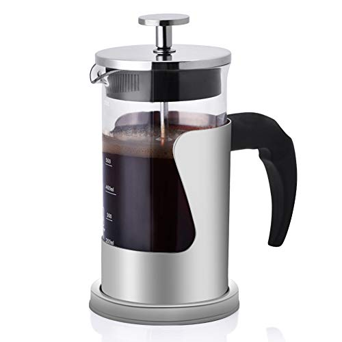 Find Bargain French Press Coffee Maker, 304 Grade Stainless Steel Insulated Coffee Press with 2 Extr...