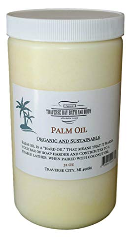Palm Oil, Soap Making Supplies. Organic, Sustainable, Kosher, 32 fl oz. DIY Projects.