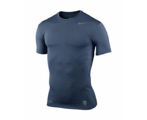 Nike Pro Core SS ticht Crew nonbox 269603–451hombre Tee Shirt mango corto running color azul oscuro