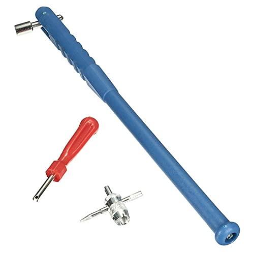 VusiElag 3pcs válvula de instalación y Mantenimiento Herramientas de Mantenimiento Kit de reparación de neumáticos de Coche Tire de la válvula de neumático PULTER 4 Vent