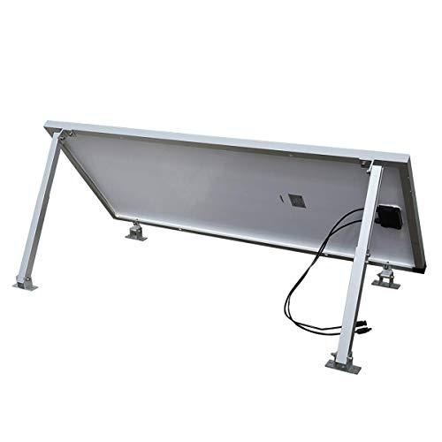 WATTSTUNDE Solarmodul Aluminium Wand und Dachhalterung Freilandgestell auch für Flachdach (FHS200)