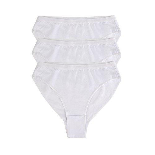 Bezioner Ballett Dance Slip Panty Tanzen Unterwäsche 3er Pack Weiß Für Kinder und Erwachsene Weiß M