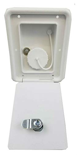 Sale!! rv Trailer Polar White Gravity Water Hatch Fill Dish Lockable - Plastic A6102