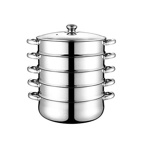 Vaporizador de 5 capas de acero inoxidable de acero inoxidable cocina de inducción utensilios de cocina olla de cocina para cocinar alimentos eléctricos bebé pequeño microondas estufa top olla