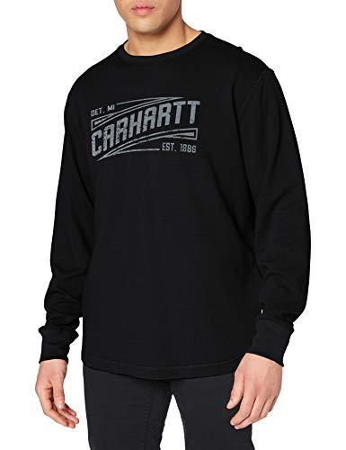 Carhartt Tilden Graphic Long-Sleeve Crew T-Shirt, Nero, L Uomo