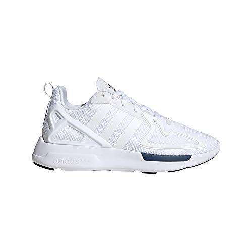 adidas ZX 2K Flux J, Sneaker, Grigio Nero Bianco, 39 1/3 EU
