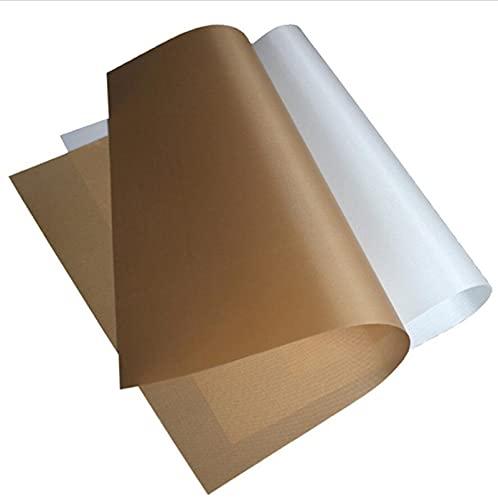 Reutilizable Nonk Hornear Papel Alta Temperatura Resistente Hoja Horno Microondas A La Parrilla Horneada Horquilla Almohadilla Pad 30x40CM / 40x60cm (Color : 30X40cm white)