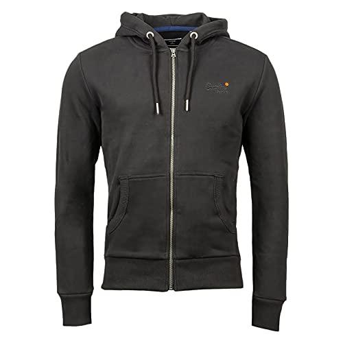 Superdry Herren Ol Classic Ziphood Ns Sweater, Schwarz, L EU