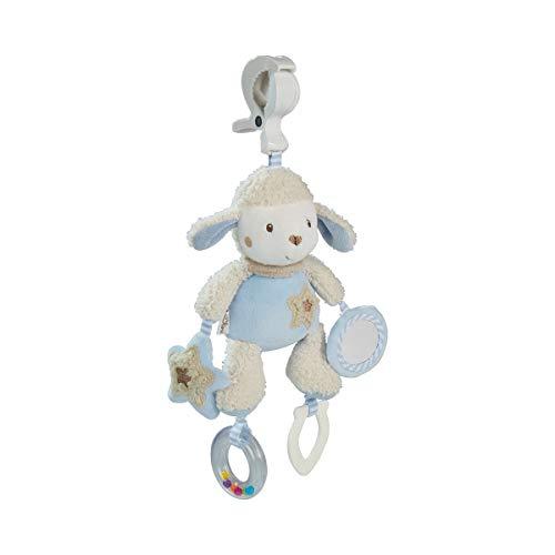 solini Peluche d'éveil-hochet avec pince, bleu ciel - mouton