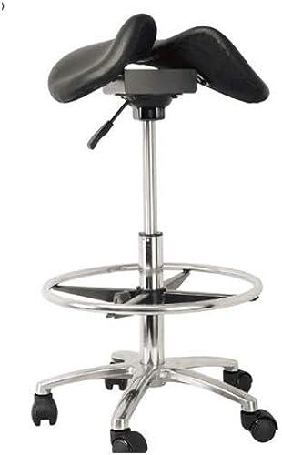 Precio por piso HYRL Silla de Silla, 360 ° ° ° Silla ergonómica de pie para Evitar la miopía Ordenador Silla ortopédica elevación de Acero Inoxidable Taburete de equitación,negro  calidad de primera clase
