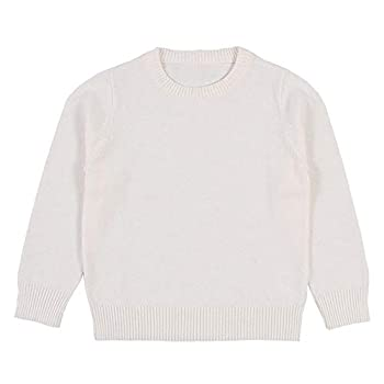 Wennikids Baby Boys Girls O-Neck Toddler Pullover Sweaters Knitted Coats Outwear Sweatshirt 1-6 Years XXX-Large White