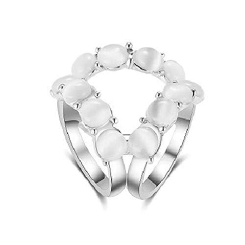 Moda flor tricíclica titular de la bufanda de cristal broches de seda Clips retro ojo de gato piedra flor broches alfileres joyería-plata-ópalo