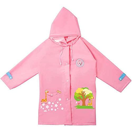 Night K Impermeable para niños de dibujos animados EVA impermeable con capucha con cubierta de bolsa escolar para niñas y niños chaqueta transpirable B-XXL