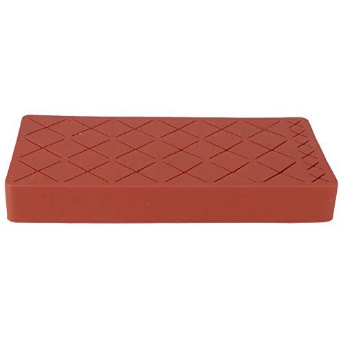 Soporte de exhibición de la caja de almacenamiento de cosméticos de maquillaje organizador de soporte de lápiz labial de silicona de 24 ranuras(rojo)