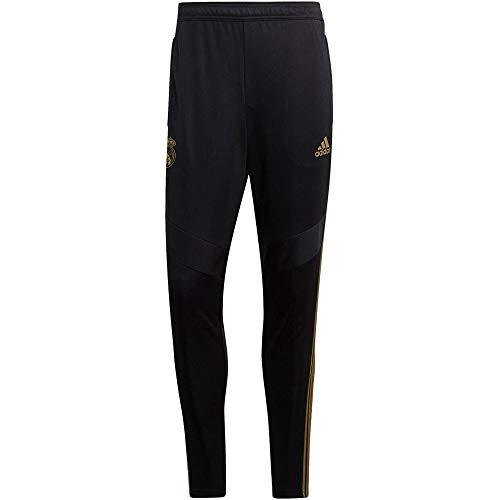 adidas Lange Hosen Real TR PNT, Black/Dark Football Gold, L, DX7847