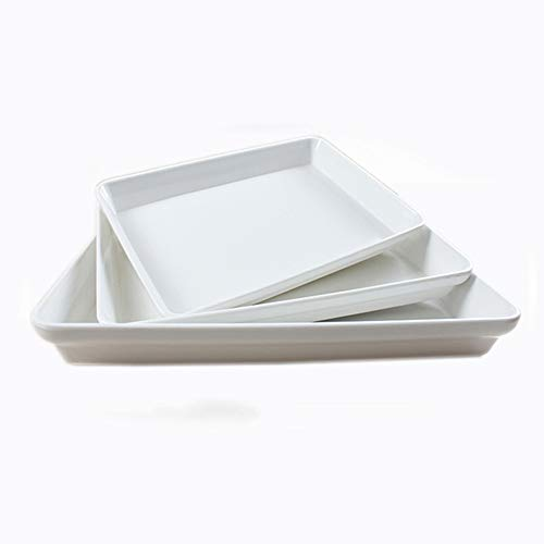 Bandeja Rectangular De Plástico Blanca Maceta con Bandeja De Agua De Porcelana De Imitación De Melamina para Profundizar La Comida Caliente Bandeja De Buffet De Pastillas De Vegetales Calientes