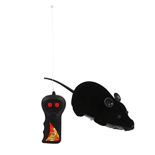 NUOBESTY Remote Control Joke Toys Halloween Prank Fake Rat Realistic Plush Mouse Halloween Christmas Trick Spooky Toys for Cat Dog Kid